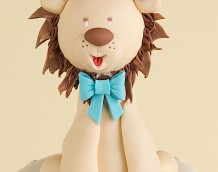 'Boys Birthday / Christening' cake - Lion cake topper by Marion Frost