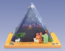 Triangle Nativity Cake - Front (Shepherd Set)