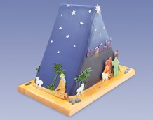 Triangle Nativity Cake - Left Side